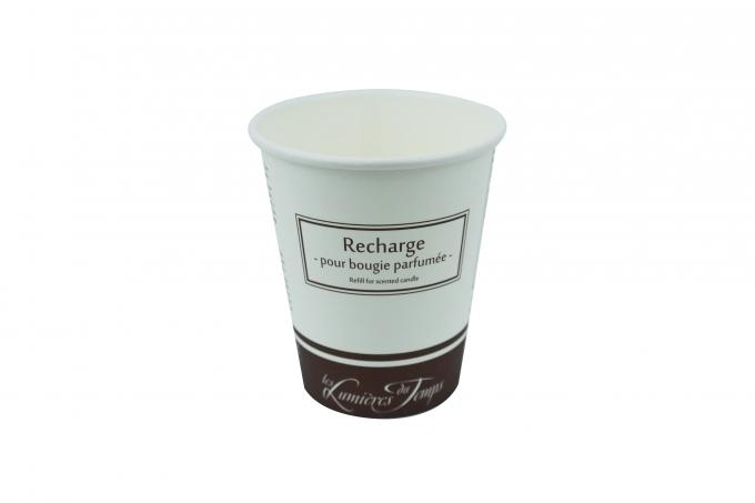 Single Wall Disposable Paper Cups 200 300 400ml With Eco Friendly Printing