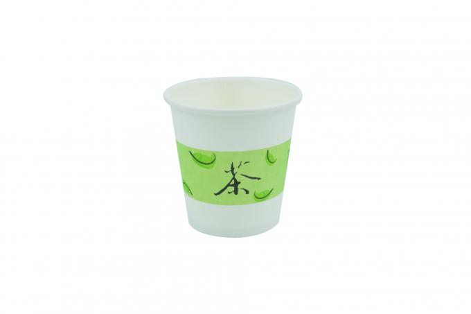 Colorful Mini Paper Coffee Cups Of Single Wall Water Based Ink Flexo Printing