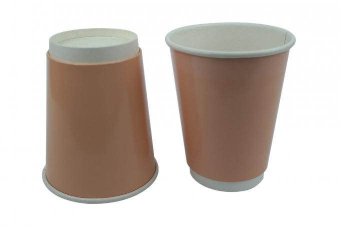 12oz Double Wall Paper Cups Attractive Appearance Heat Resistant With Lids