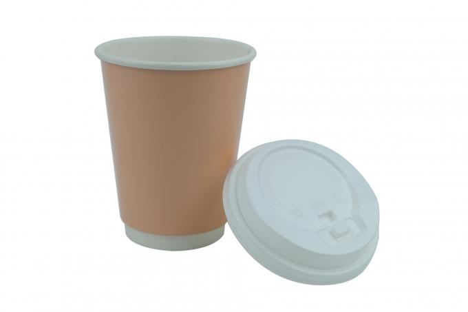 Double Wall Insulated Disposable Paper Cups 12 OZ For Stores And Vending Machines