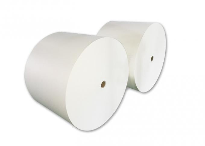 Plain White Printed Paper Roll 12oz OEM / ODM With Single Wall PE Coated