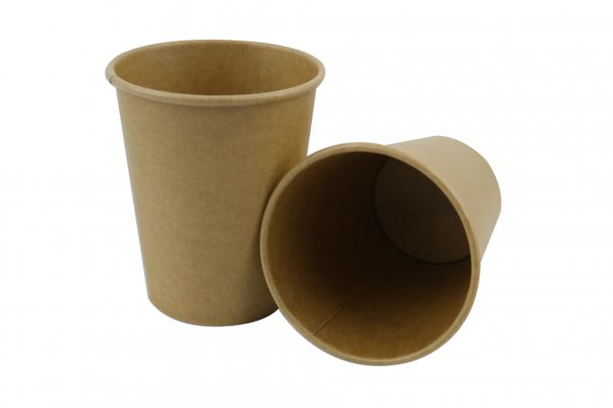 Brown Kraft Mini Paper Coffee Cups , Taking Away Disposable Paper Coffee Cups