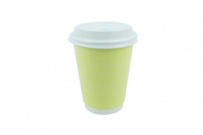 double walled disposable tea cups 400ml volume avoiding deformation