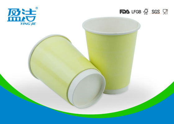 China Double Walled Disposable Tea Cups 400ml Volume Avoiding Deformation supplier