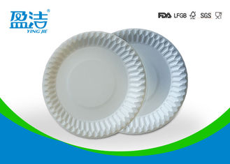 China Food Contact Safety Bulk Disposable Plates , Biodegradable Paper Plates For Barbeque supplier