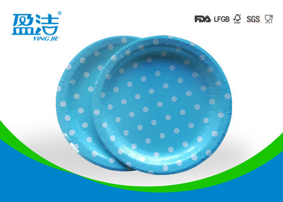 China Odourless Smell Disposable Paper Plates 6 7 9 Inch With Certificates SGS FDA LFGB supplier