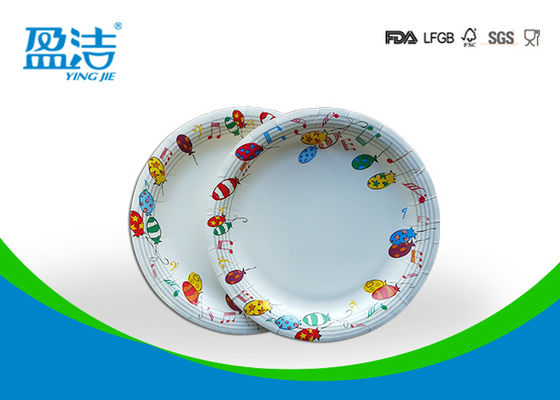 6 Inch Diameter Disposable Paper Plates Printed By Flexo Water Based Ink